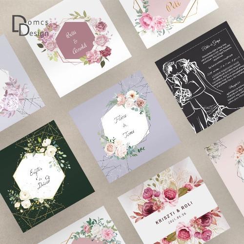 Egyedi esküvői meghívók elérhető áron