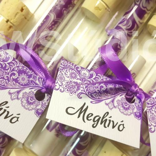 Kémcsöves esküvői meghívók nagy színválaszékban