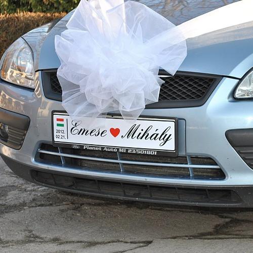 Esküvői rendszámtábla - esküvői piactér