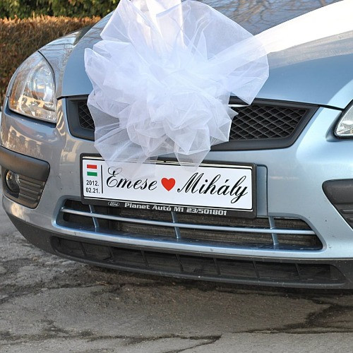 Esküvői rendszámtábla