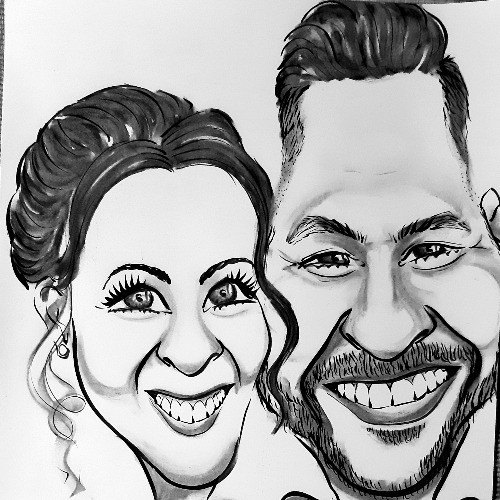 Páros karikatúra nászajándékba - esküvői piactér