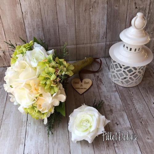 Selyemvirág csokor - kicsi