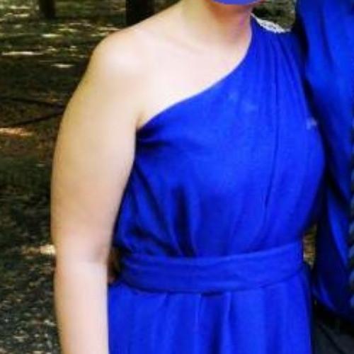 Kék koszorúslány ruha