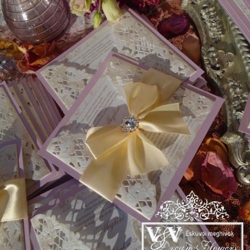 Lézervágott egyedi esküvői meghívók többféle témában sokféle színben. - esküvői piactér