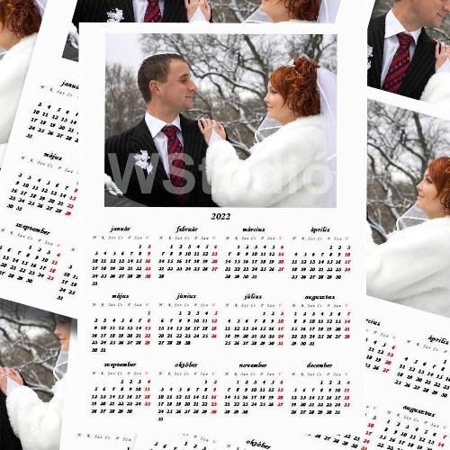 Mágneses naptár köszönőajándék