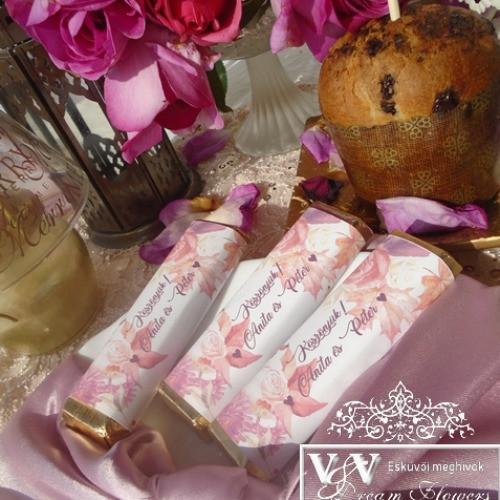 Csoki esküvői köszönetajándékok www.dreamflowersmeghivok.hu