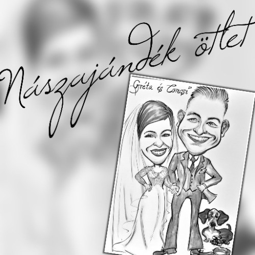Esküvői karikatúra nászajándékba