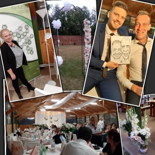 Élő karikatúra rajzolás az esküvőn