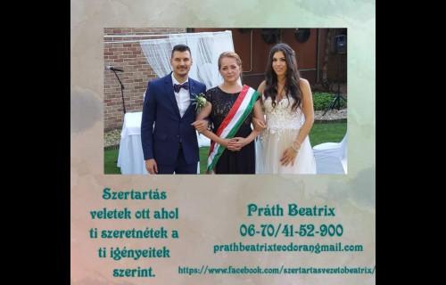 Práth Beatrix Szertartásvezető, esküvői koordinátor és esküvőszervező - esküvői szolgáltató