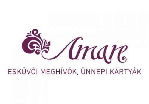 Amare esküvői meghívó - esküvői szolgáltató