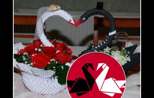 Csilla origami dekoráció - esküvői szolgáltató