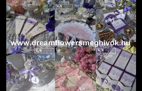 Dream Flowers Esküvői Meghívók - esküvői szolgáltató