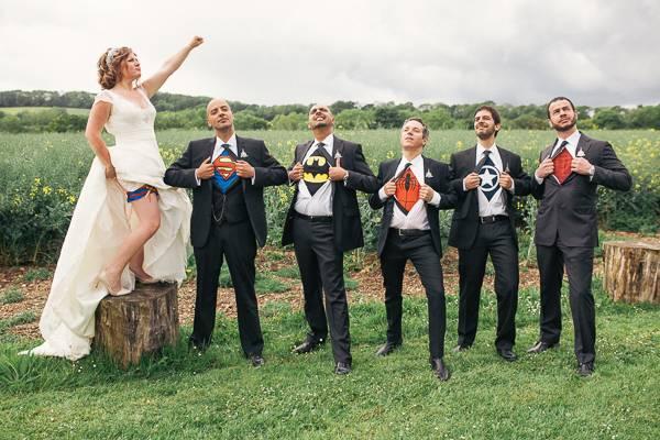 szuperhősök témaesküvő