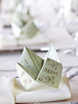 esküvői menükártya