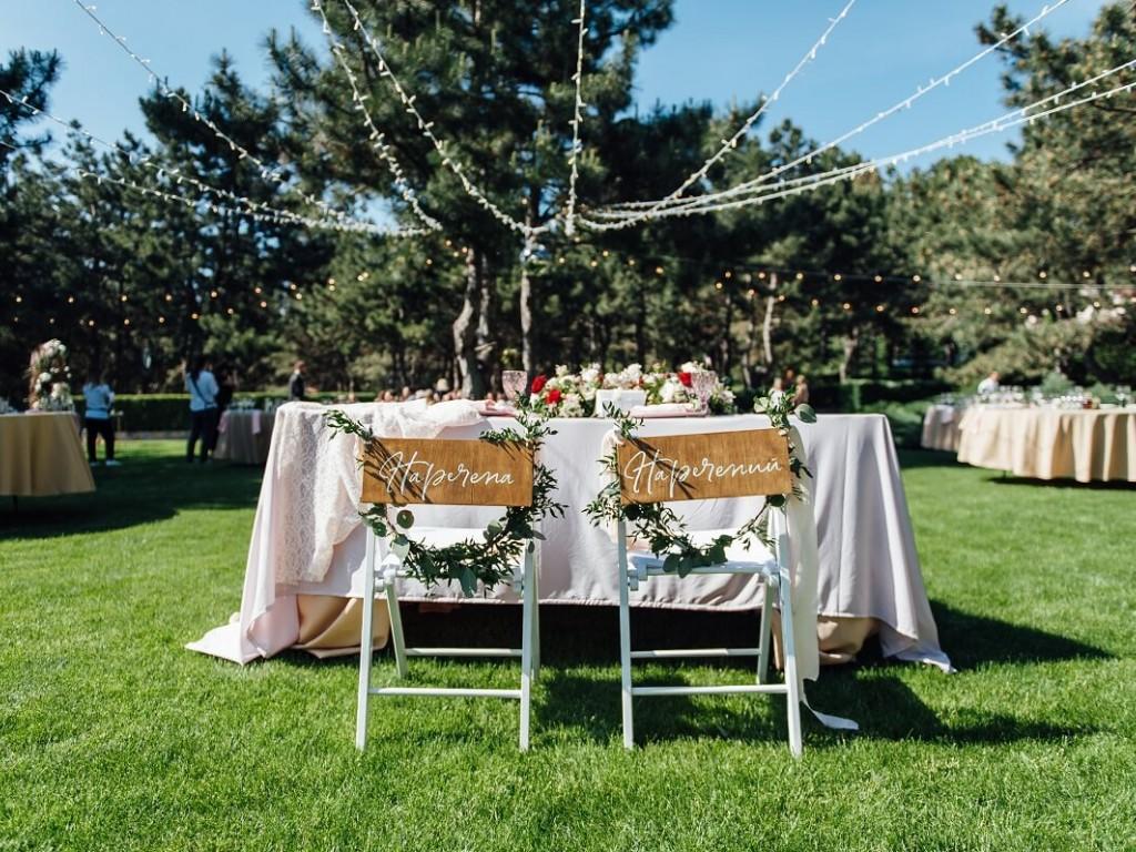 Zöld esküvői dekoráció fillérekből