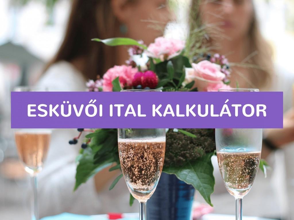 Esküvői ital kalkulátor – Miből mennyivel számolj?