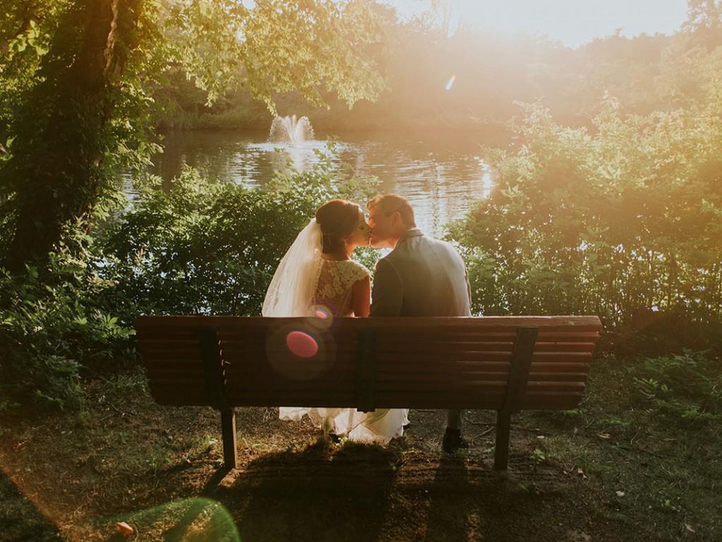 Gyönyörű szertartás a green wedding jegyében